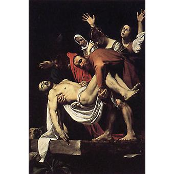 The Entombment of Christ, Michelangelo Merisi da Caravaggio, 60 x 40 cm