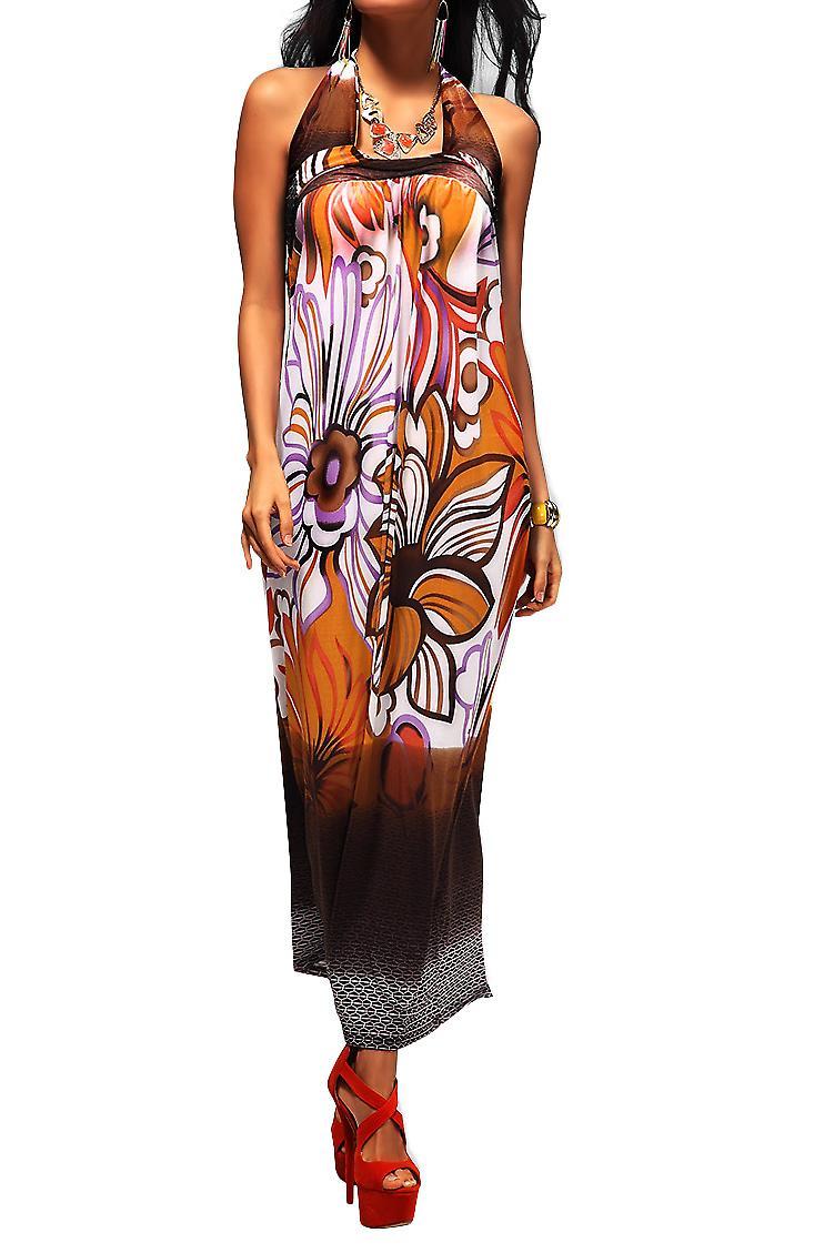 Waooh - Fashion - Long Dress Colorful Floral Pattern Gammu