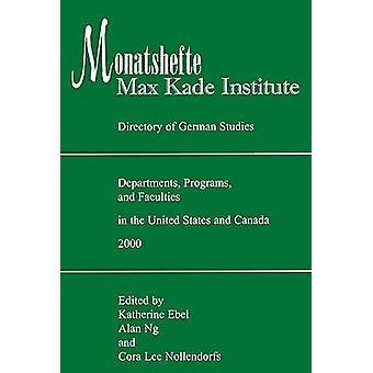 Institut de Kade Monatshefte/Max - répertoire des études allemandes comi