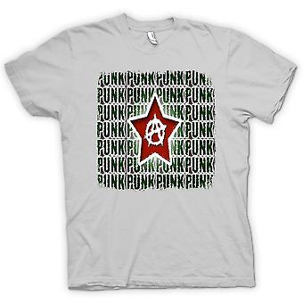 Mens T-shirt - Punk Rock Anarchy - Design