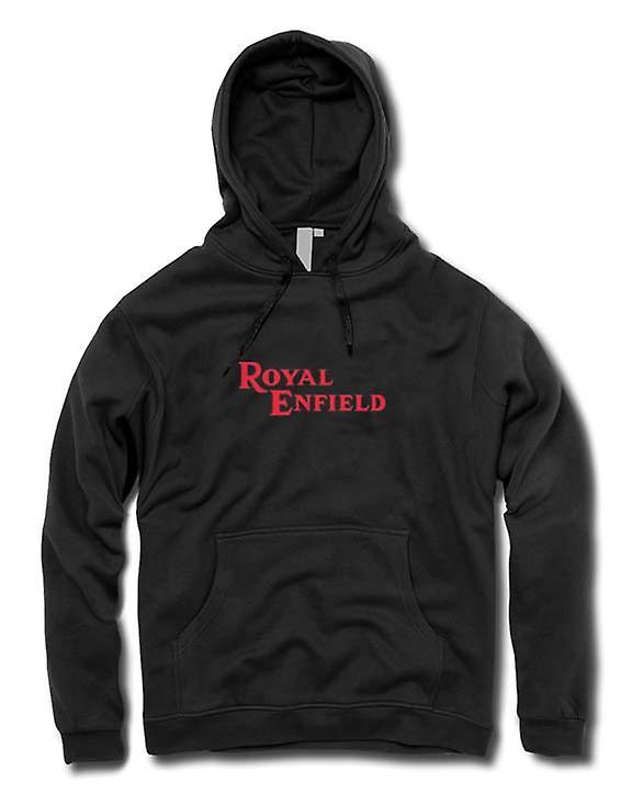 Mens Hoodie - Royal Enfield Logo - Classic Motorbike