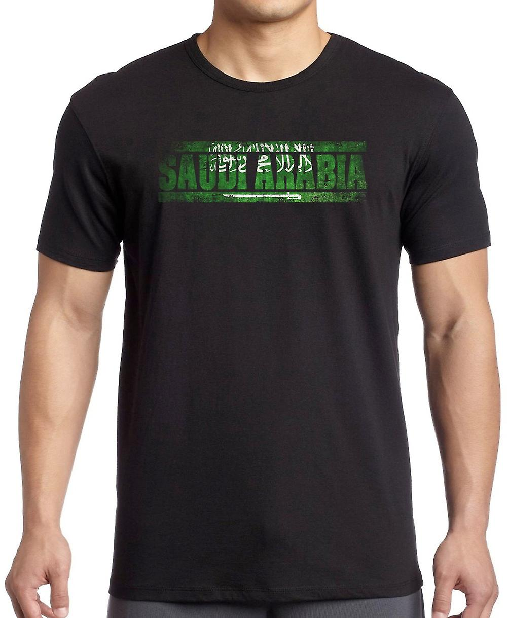 Saudia Arabian Saudi Arabia Flag - Words T Shirt