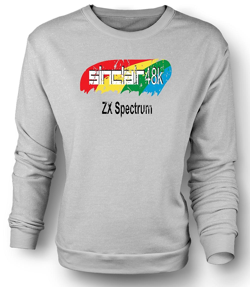 Mens Sweatshirt 48K Sinclair ZX Spectrum 0s - computerspellen