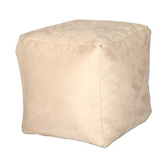 Seat cube seat stool Noble Soft champagne 40 x 40 x 40 cm