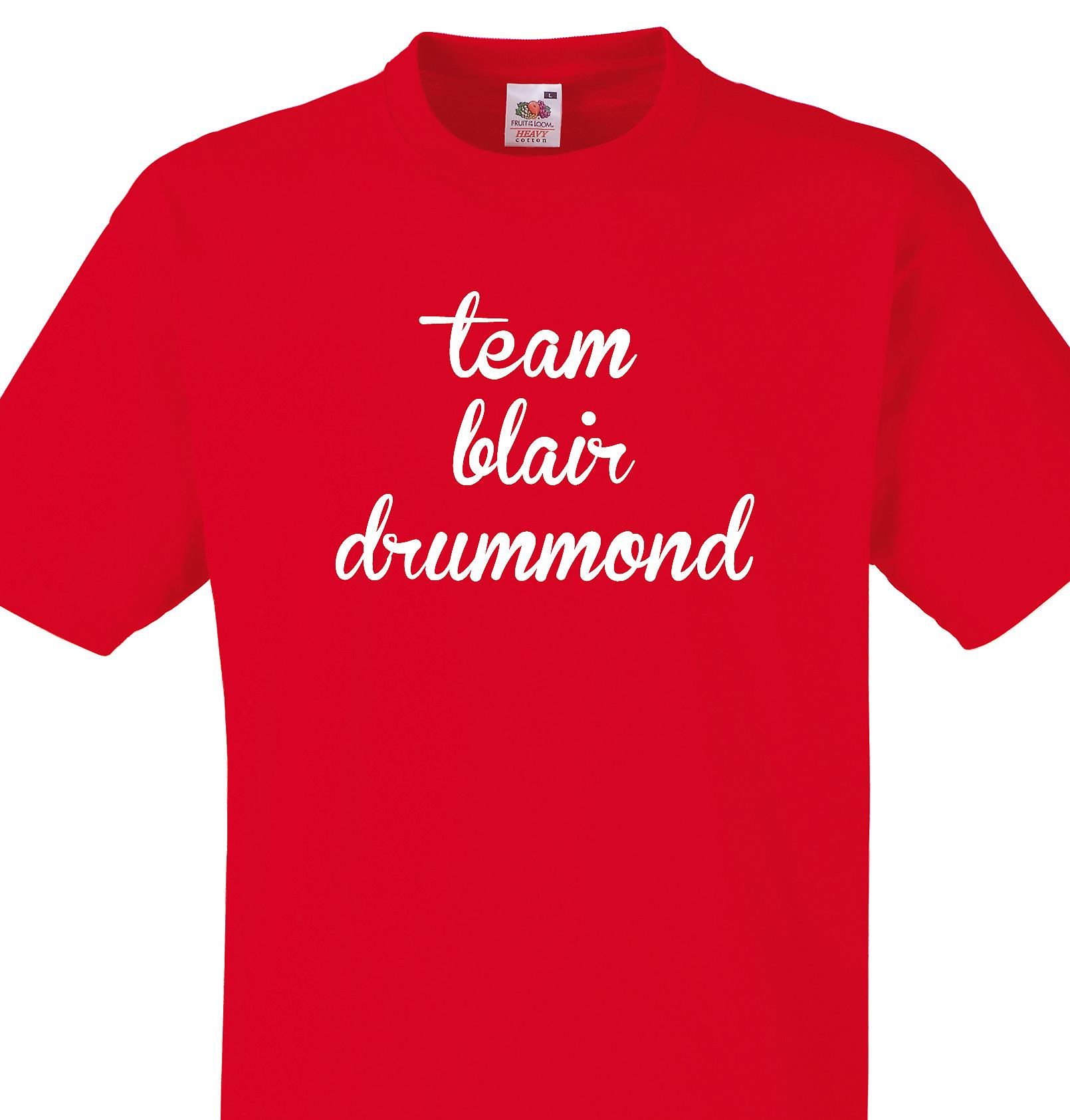 Team Blair drummond Red T shirt
