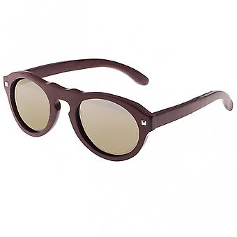 Earth Wood Sunset Polarized Sunglasses - Red Rosewood/Gold