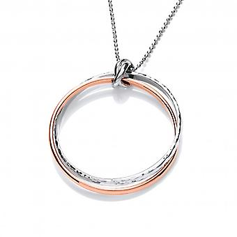 Cavendish Franse Sterling zilver en koper dubbele Ring hanger zonder ketting