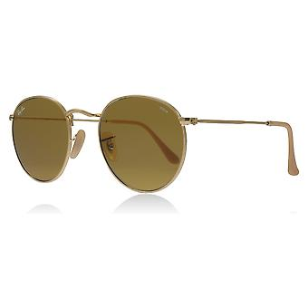 Ray-Ban RB3447 90644I Gold RB3447 Round Sunglasses Lens Category 3 Size 50mm