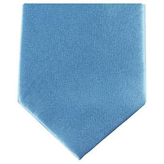 Knightsbridge Neckwear Slim Polyester Tie - Blue