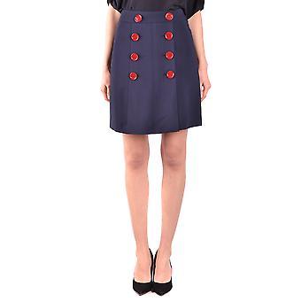 Burberry Blue Viscose Skirt