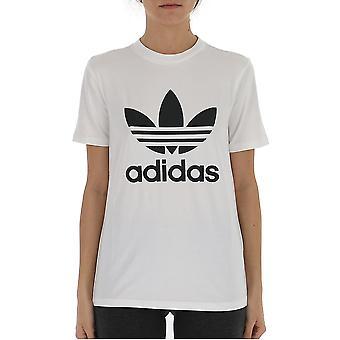 Adidas White/black Cotton T-shirt