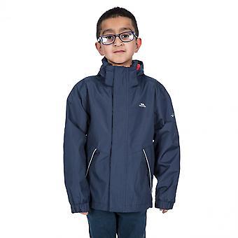 Trespass meninos Vincenzo TP50 impermeável Windproof Shell casaco