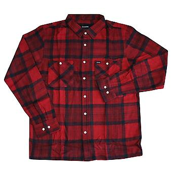 Brixton Ltd Milton LS Button Flannel Shirt rot
