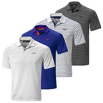 Mizuno Mens 2019 szybkie Dry Stripe Golf Koszulka Polo