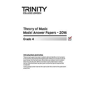 Theory of Music Model Answer Papers 2016 - Grade 4 by Theory of Music