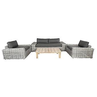 Cozy garden Yate loungeset 224x130x63 cm - grijs