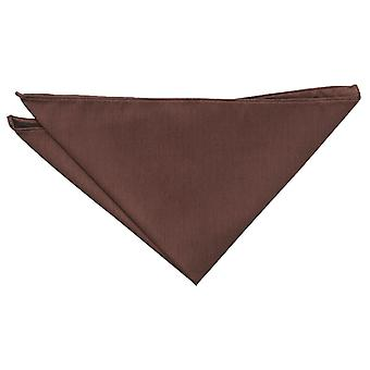 Chocolate Brown Shantung Pocket Square