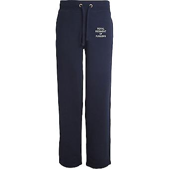 Royal Regiment Of Fusiliers Text - Licensed British Army Embroidered Open Hem Sweatpants / Jogging Bottoms