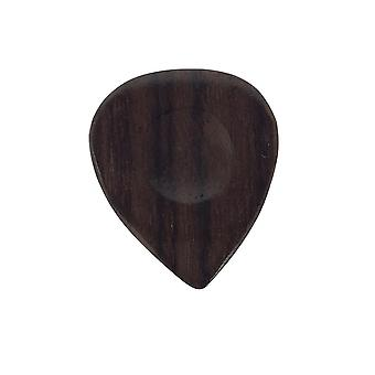5 Pickboy Guitar Picks/Plectrums - Exotic Rosewood Hand Made - Brown 5 Pack 2mm+