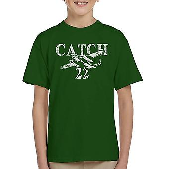 Catch 22 Plane Fly By Kid's T-Shirt