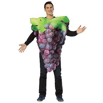 Erhalten Sie echte lila Trauben Obst essen Party komische Womens Mens Kostüm OS