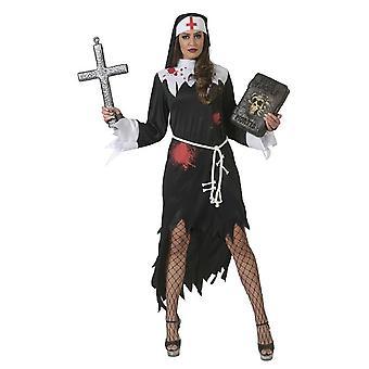 Nun Halloween Women's Costume Creepy Horror Carnival Costume Ladies