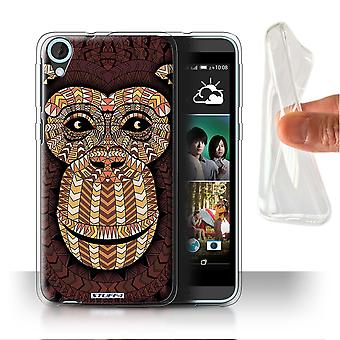 STUFF4 Gel/TPU sak/Cover for HTC Desire 820s to/Monkey-Orange/Aztec dyr