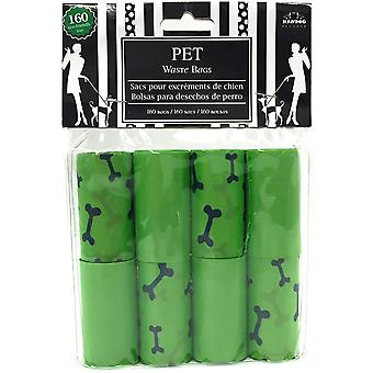 Nandog Waste Bag Replacements 8/Pkg-Green Bones WBR-82G