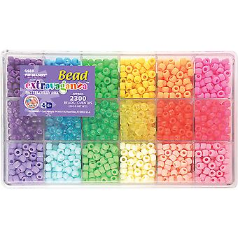 Giant Bead Box Kit 2300 Beads Pkg Pastel & Jelly B6488