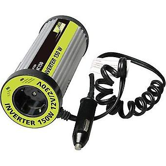 Inverter ProUser Spannungswandler für Dosenhalter 150W mit USB 150 W 12 Vdc Can-shaped (fits into cup holder) Cigarette