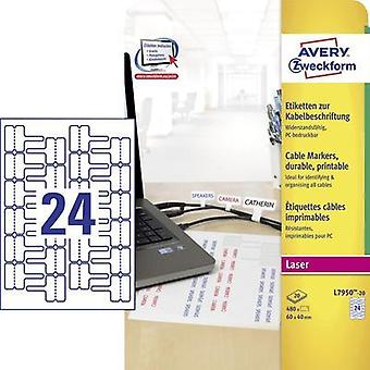 Avery L7950-20 self-adhesive label Avery-Zweckform L7950-20