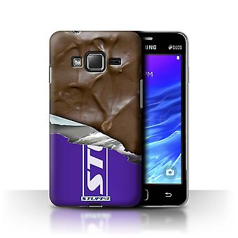 STUFF4 Case/Cover for Samsung Z1/Z130/Wrapped Bar/Ripple/Chocolate