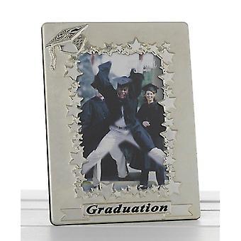 Satin Silver Graduation Two Tone 4x6 Photo Frame Gift