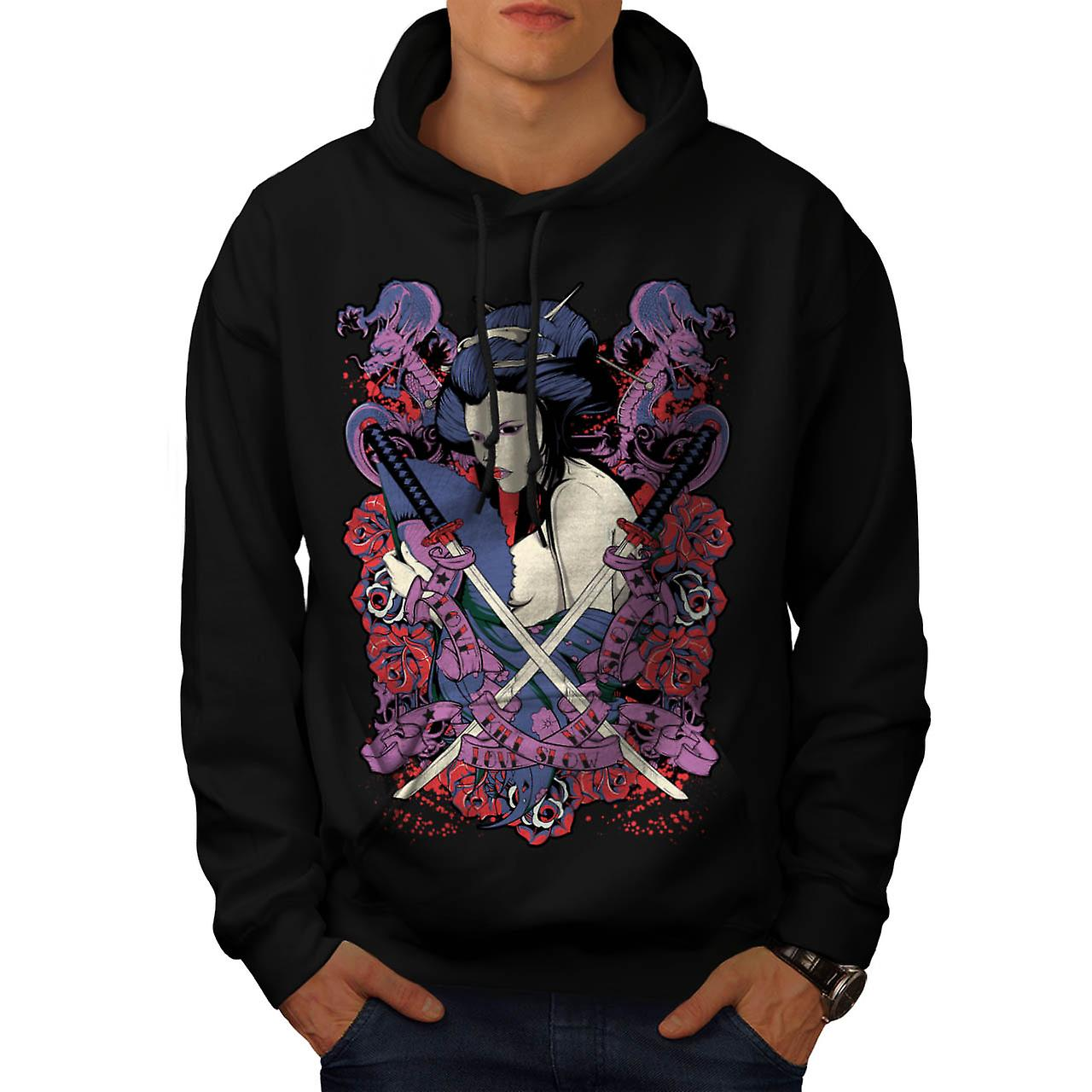 Love Will Kill Slow Chinese Girl Men Black Hoodie | Wellcoda