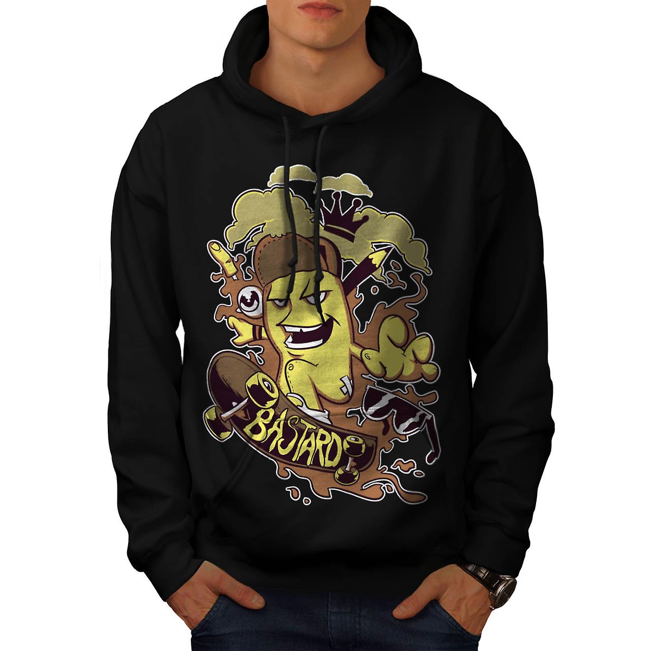 Crown Bastard Skates Skateboard Men Black Hoodie | Wellcoda