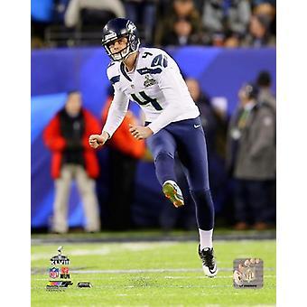 Steven Hauschka Super Bowl XLVIII Action Photo Print