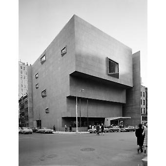 USA New York City New Whitney Museum building designed by Marcel Breuer Poster Print