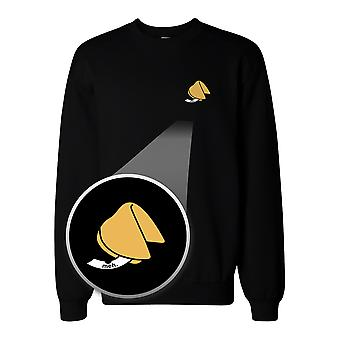 Fortune Cookie Meh. Pocket Print Sweatshirt Unisex Sweat Shirt