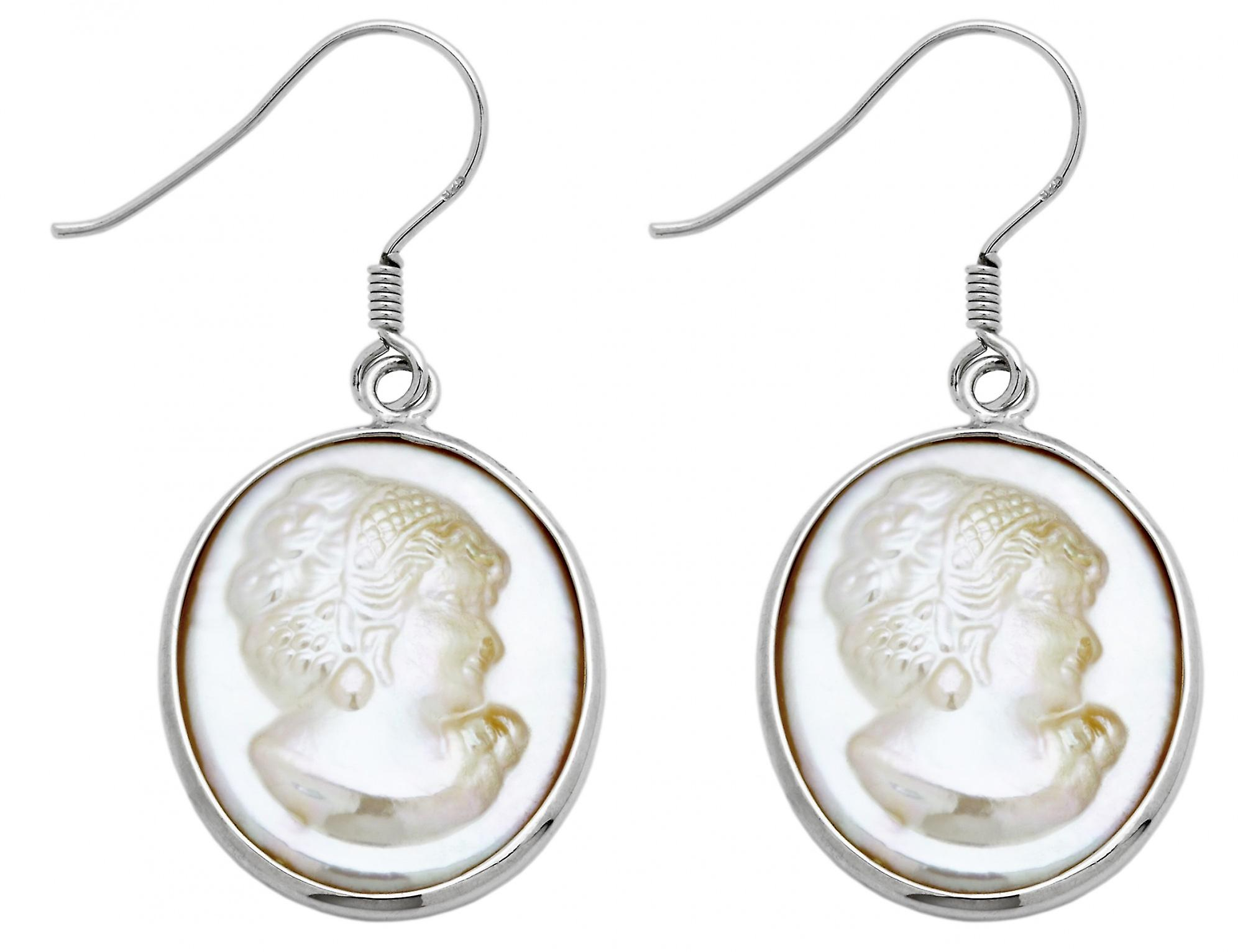 Burgmeister earhooks mother of pearl gem