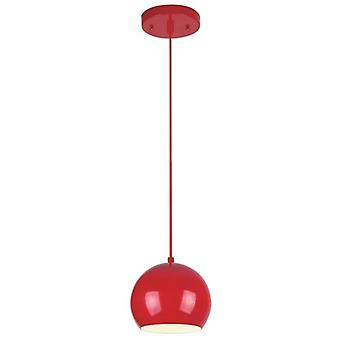 Westinghouse One Light Pendant High Gloss Red