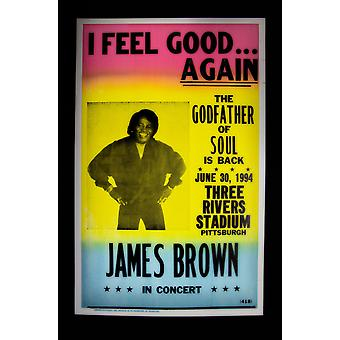 James Brown Retro Concert Poster