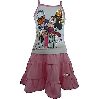 Girls Disney Minnie Mouse & Daisy Sleeveless T-shirt and Skirt Set