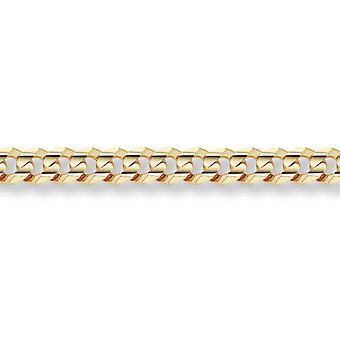 14K oro 10,5 mm encintado pulsera