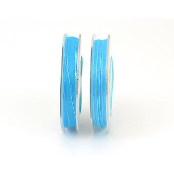 3mm Organza Craft Ribbon - 10m Reel - Turquoise | Ribbons & Bows for Crafts