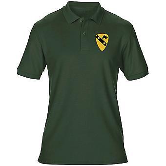 US Army 1st Cavalry DUI Stemma ricamato Logo - camicia di Polo