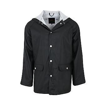 ADPT. Distance rain jacket men's rain jacket black with big pockets