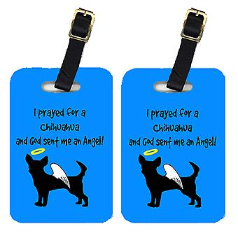 Carolines Treasures  AN1086BT Pair of 2 Chihuahua Luggage Tags