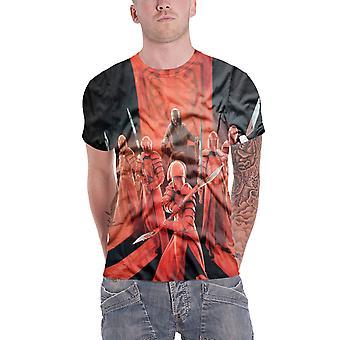 Star Wars T Snokes pretorianów strażników Allover Oficjalna Męska koszula sub barwnik