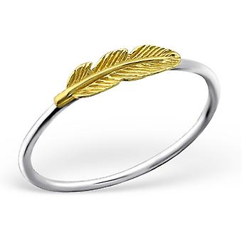 Feather - 925 Sterling Silver Plain Rings - W23483X