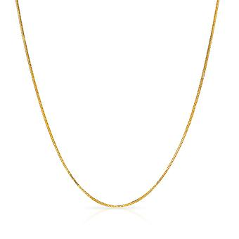 10k Fine Gold Foxtail Chain Necklace (0.9 mm)
